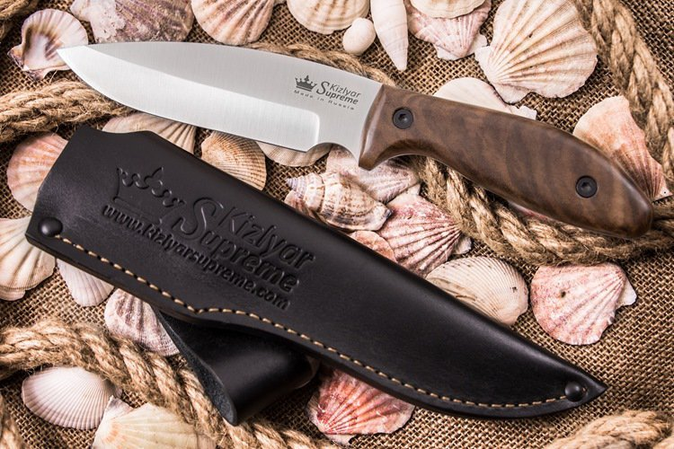 Фото 3 - Нож Fortuna AUS-8 SW, орех, Kizlyar Supreme