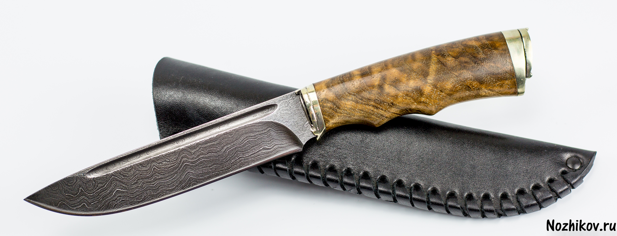 Фото 5 - Авторский Нож из Дамаска №32, Кизляр от Noname