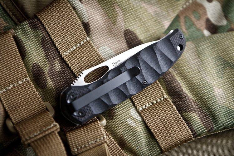 Фото 5 - Складной нож Hero 440C, полированный от Kizlyar Supreme