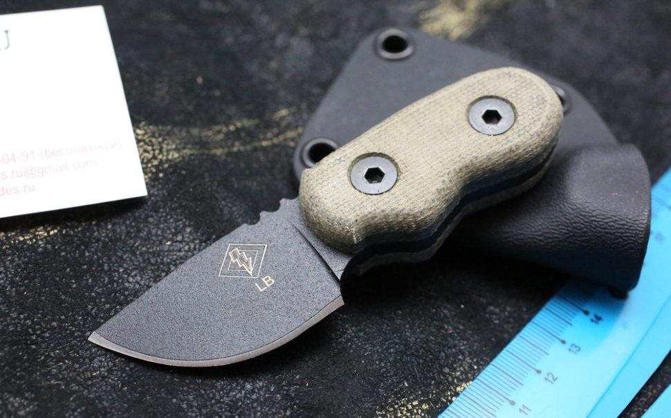 Нож с фиксированным клинком Little Bird w/Black MicartaOntario Knife Company<br>Нож BlackMicarta, сталь 1095 карбон, клинок черный, рукоять микарта, чехол черный кадекс.<br>