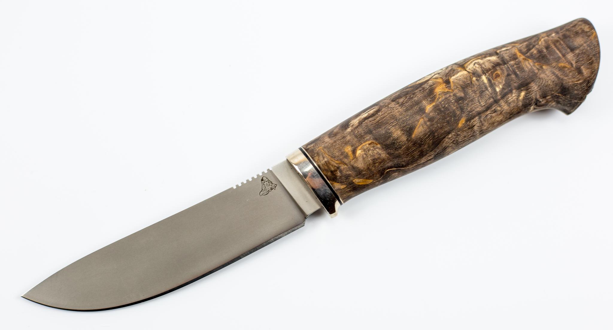 Нож Скинер, CPM S110V, карельская береза от ПФК Витязь