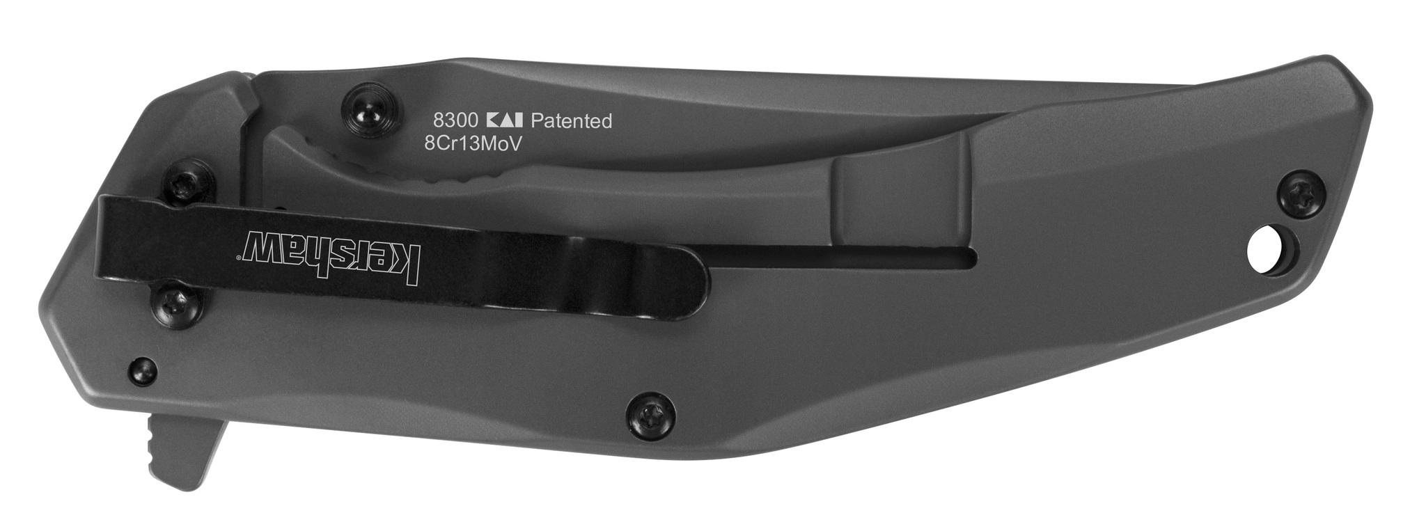 Фото 2 - Складной полуавтоматический нож Kershaw Duojet K8300, сталь 8Cr13MoV, рукоять нержавеющая сталь/карбон