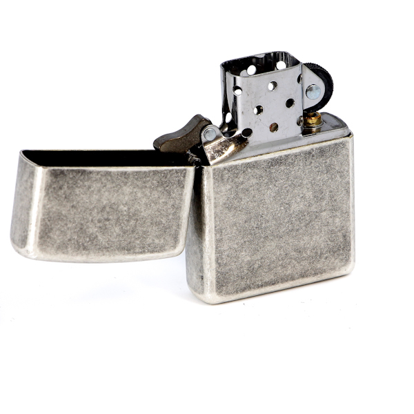 Фото 2 - Зажигалка ZIPPO Antique Silver Plate, латунь с покрытием ™Plate, серебристый, матовая, 36х12x56 мм