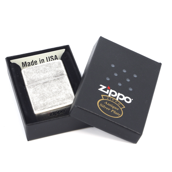 Фото 3 - Зажигалка ZIPPO Antique Silver Plate, латунь с покрытием ™Plate, серебристый, матовая, 36х12x56 мм
