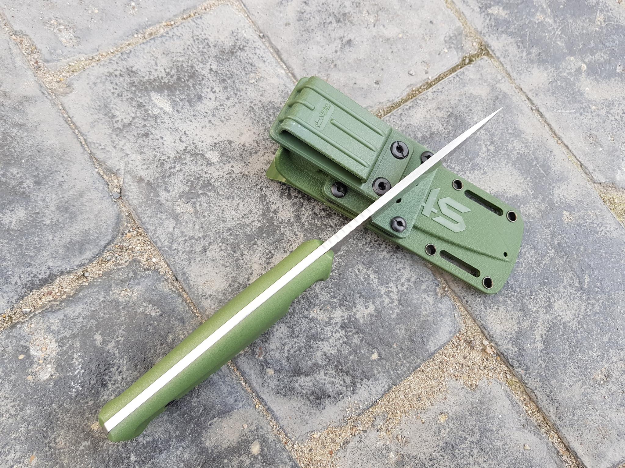 Фото 13 - Тактический нож Sturm AUS-8 S BS SW олива, Кизляр от Kizlyar Supreme