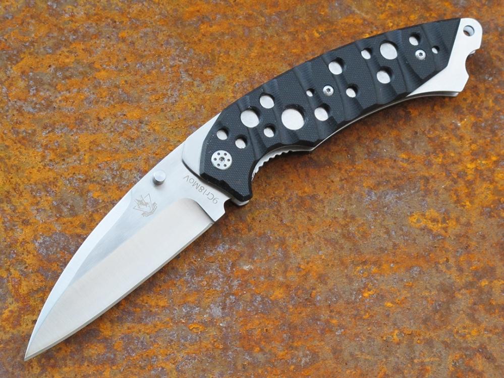 Нож складной Инквизитор 1Раскладные ножи<br>марка стали: 9Cr18MoVдлина общая: 240ммдлина клинка: 102ммширина клинка наибольшая: 32ммтолщина обуха: 4мм<br>