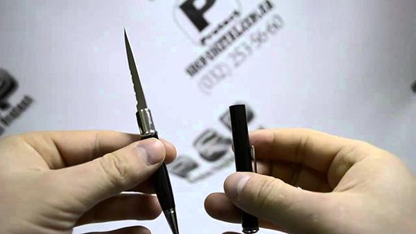Скрытая ручка-нож Штурм, синяя