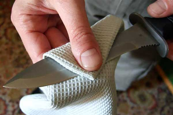 чистка ножа