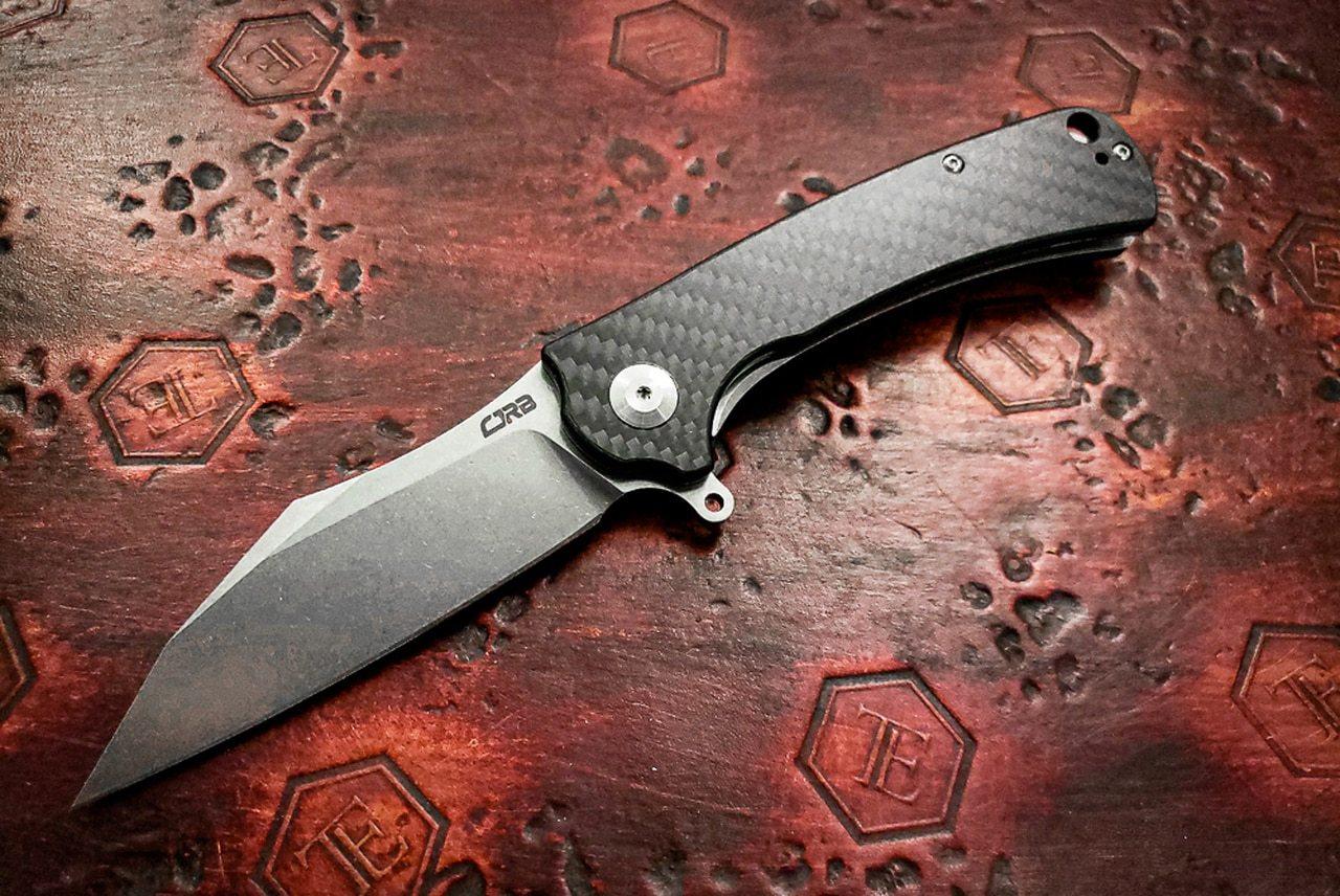 Недорогой EDC-нож с интересным дизайном CJRB TALLA, СТАЛЬ D2, CARBON FIBER