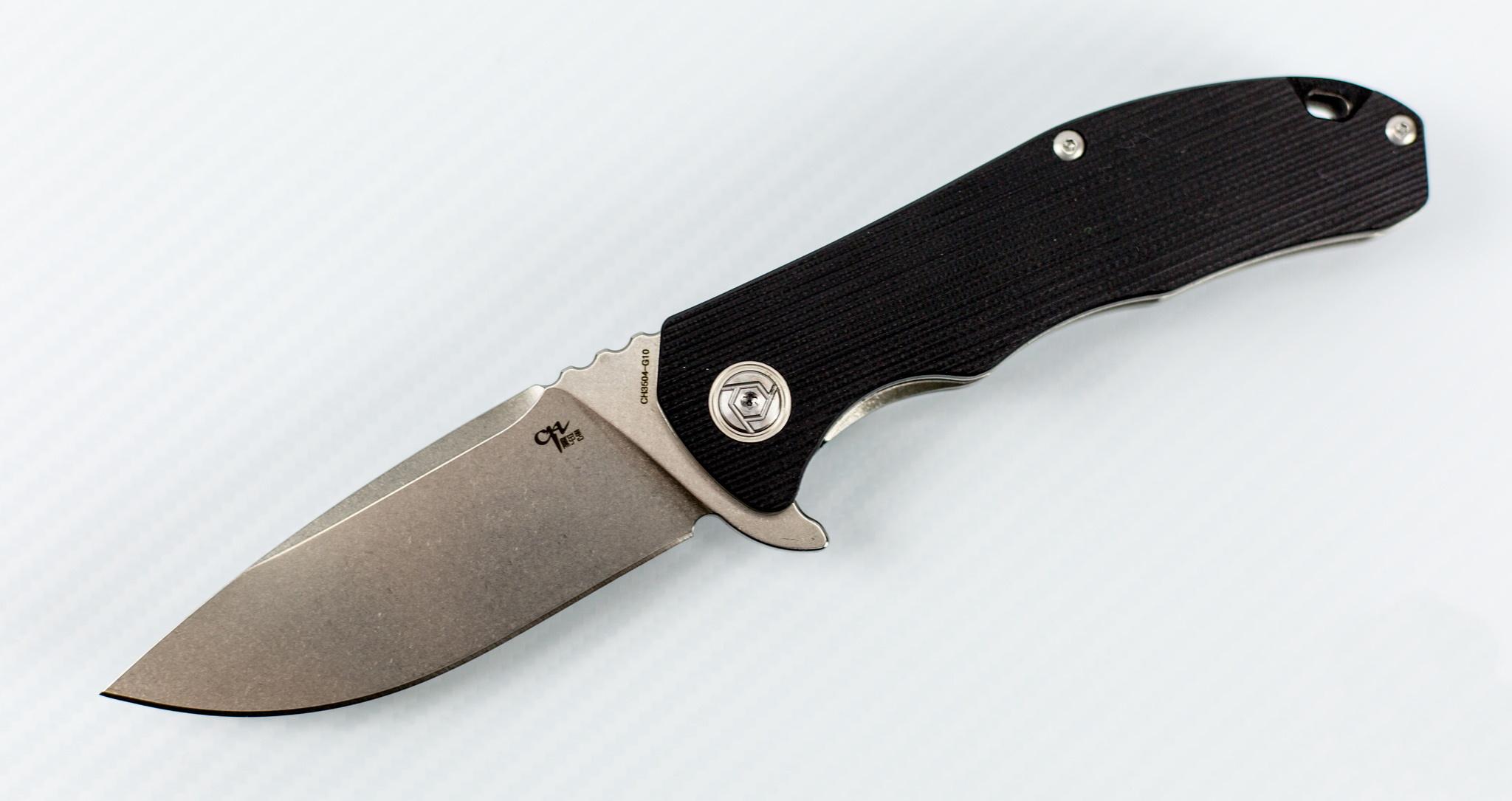 Качественный нож по честной цене - СКЛАДНОЙ НОЖ CH3504 СТАЛЬ D2, ЧЕРНЫЙ