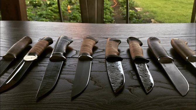 Выбор стали для туристического ножа