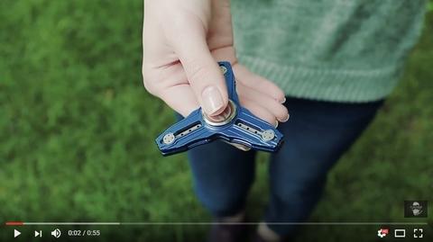 Кастомный спиннер (hand spinner) maxace, синий - видеообзор