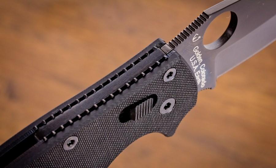 Фото 6 - Нож складной Manix 2 Black - Spyderco 101GPBBK2, сталь Crucible CPM® S30V™ Black DLC Plain, рукоять G10, чёрный