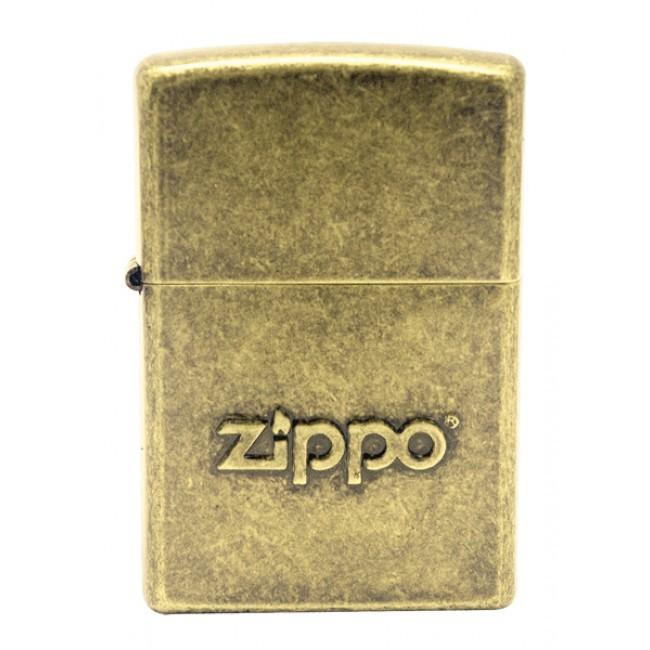 Зажигалка ZIPPO Classic с покрытием Antique Brass, латунь/сталь, серебристая, матовая, 36x12x56 мм