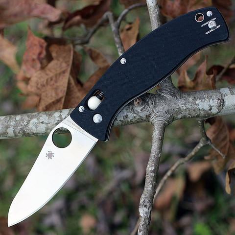 Складной нож D'Allara 3 - Spyderco 82GP3, сталь Crucible CPM® S30V™ Satin Plain, рукоять G10, чёрный. Вид 3