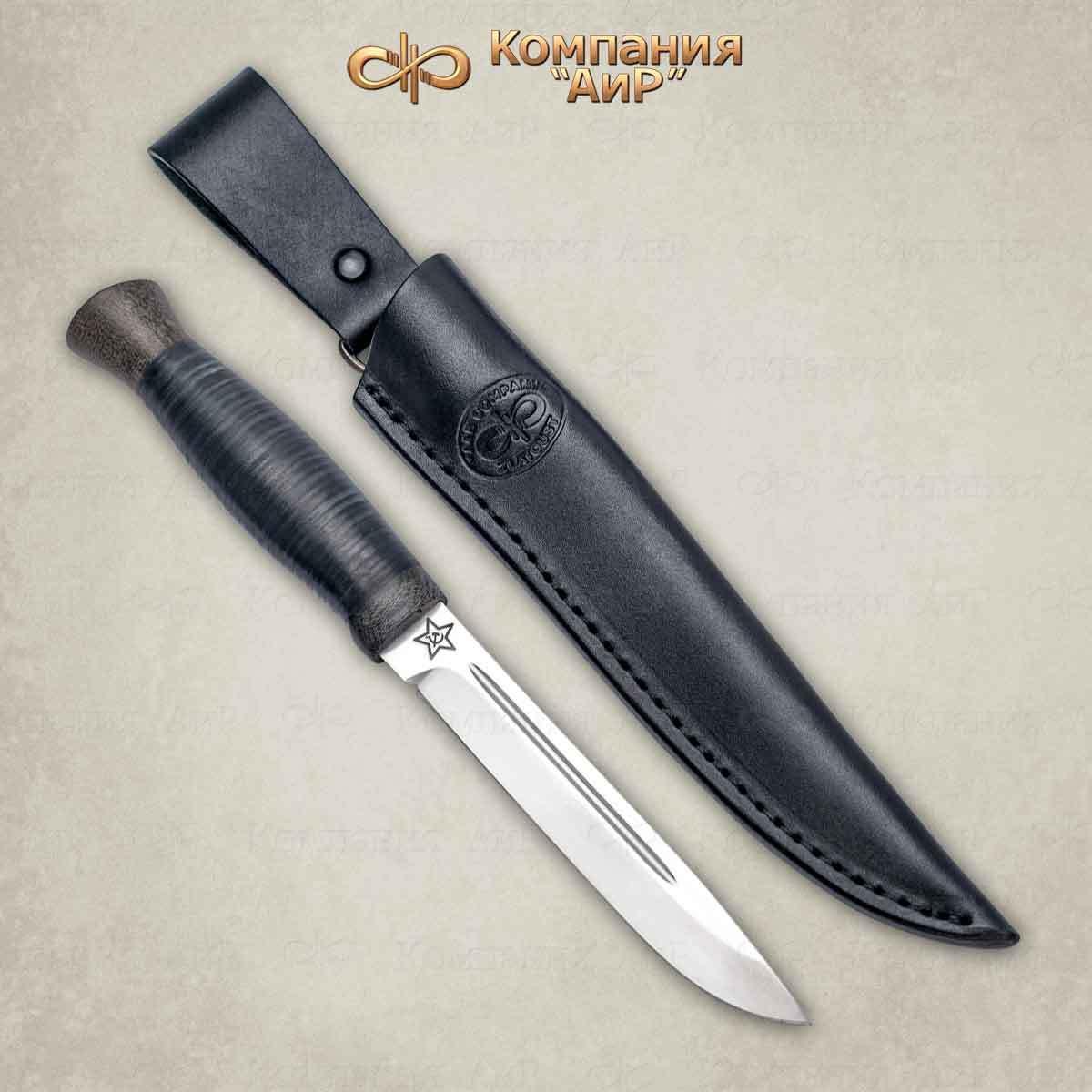 Нож разделочный Финка-3 кожа, 100х13м, АиР