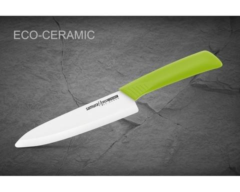 Нож кухонный Шеф Samura Eco Festival - SC-0084G, лезвие из циркониевой керамики, рукоять пластик, 175 мм. Вид 4