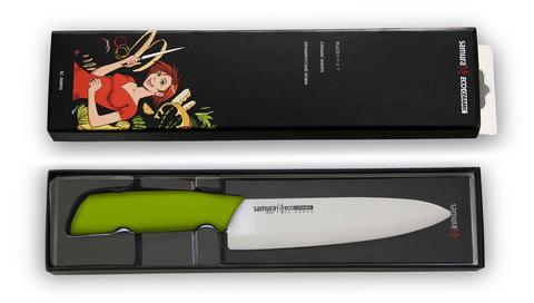 Нож кухонный Шеф Samura Eco Festival - SC-0084G, лезвие из циркониевой керамики, рукоять пластик, 175 мм. Вид 5