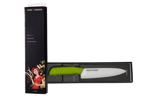 Нож кухонный Шеф Samura Eco Festival - SC-0084G, лезвие из циркониевой керамики, рукоять пластик, 175 мм. Вид 6
