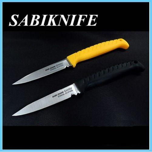 Нож рыболовный G.Sakai Sabi Knife Chinu GS-11477, сталь H1, кратон, желтый