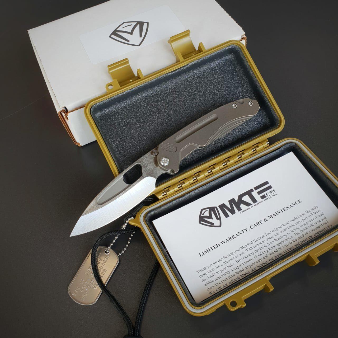 Фото 6 - Складной нож Medford Infraction, сталь S35VN, рукоять титановый сплав, бронзовый