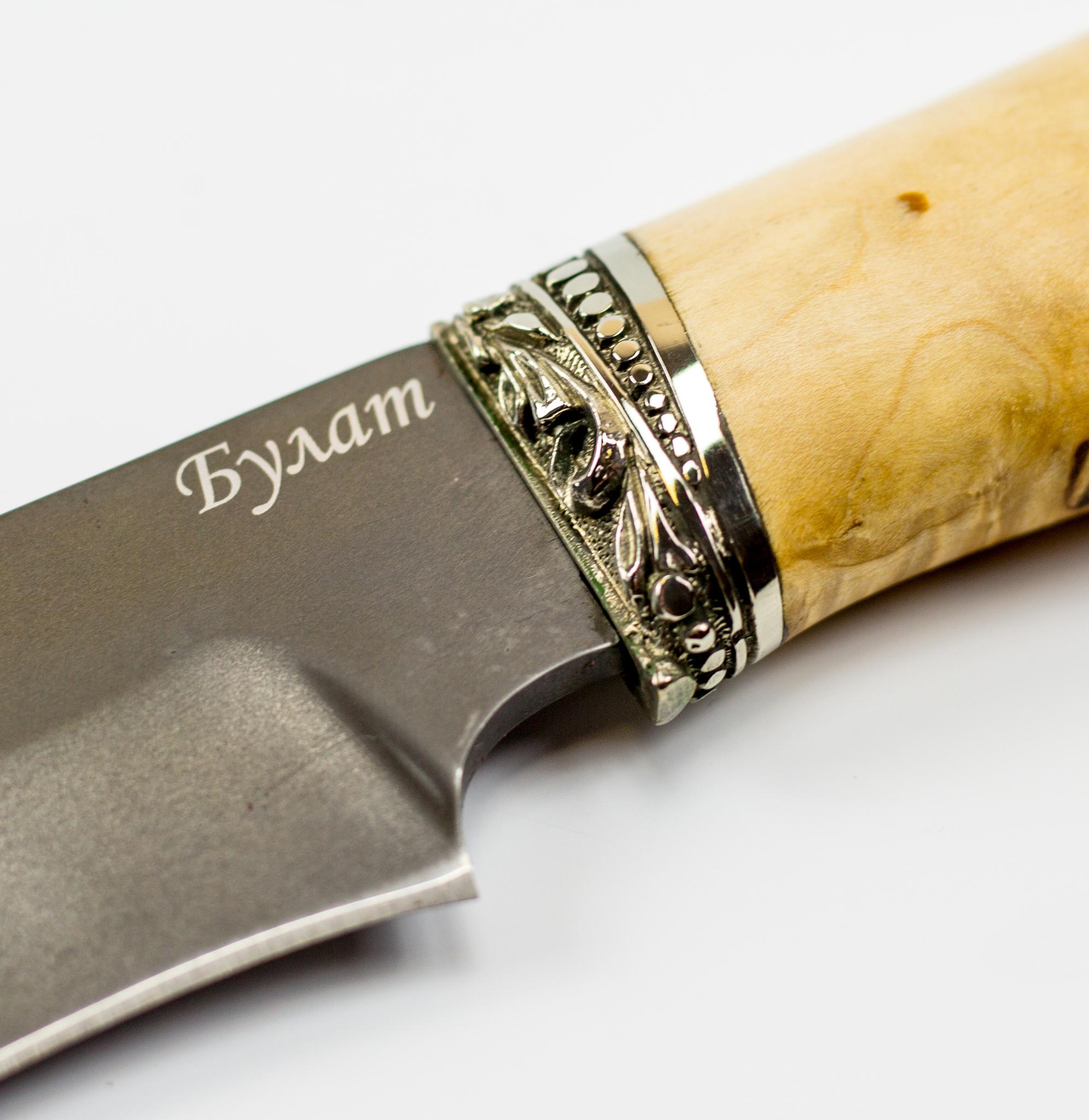 Фото 10 - Нож Универсальный, сталь булат, карельская береза от Промтехснаб