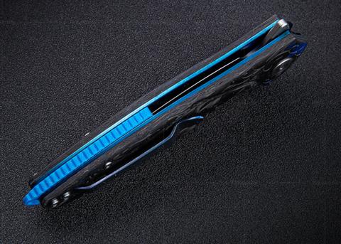 Нож складной Hummingbird Plus, сталь N690Co, Blue Carbon