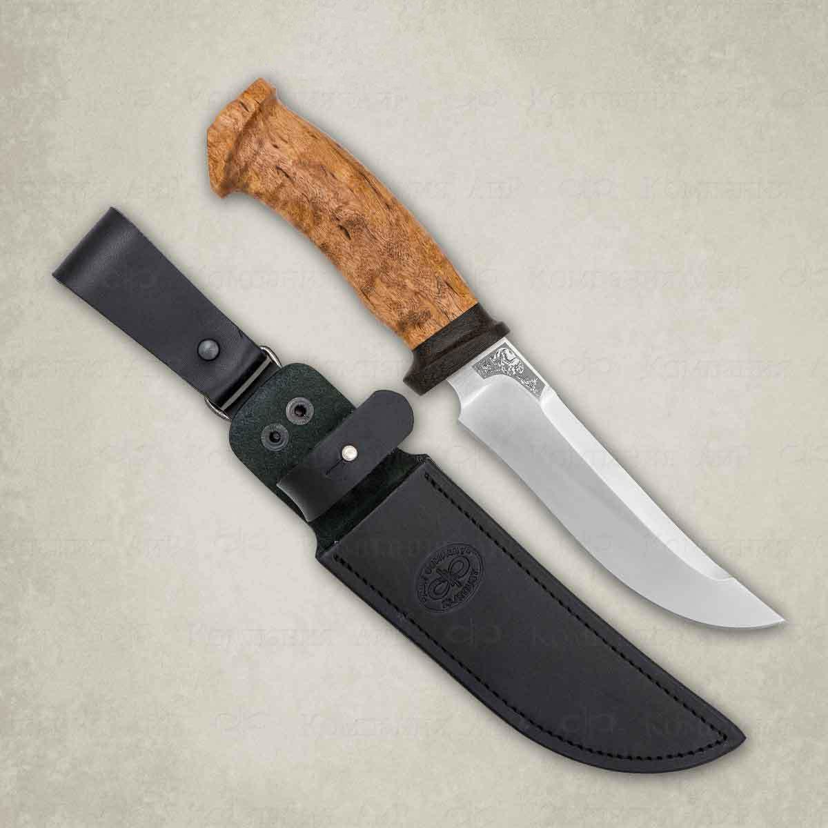 Фото - Нож разделочный АиР Росомаха, сталь ЭП-766, рукоять карельская береза нож разделочный аир финка 3 сталь эп 766 рукоять карельская береза