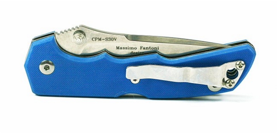 Фото 6 - Нож складной Mix, Blue Handle, Crucible CPM® S30V™, Massimo Fantoni Design 8.9 см.