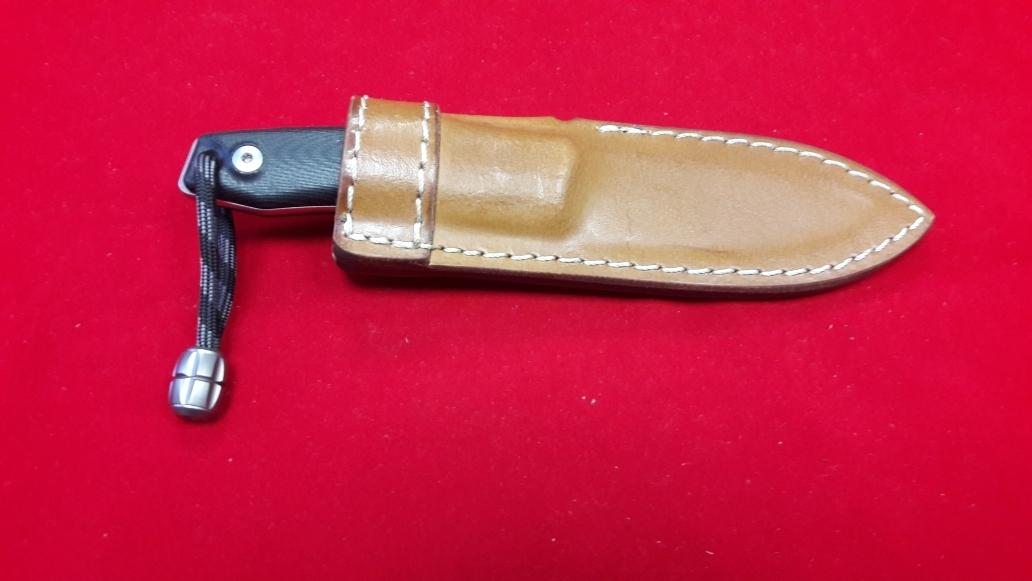 Фото 6 - Нож с фиксированным клинком M1, Satin Finish M390 Steel, Black G-10 Handle от Lion Steel