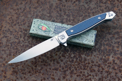 Складной нож Сарган, сталь D2, вставка синий карбон складной нож sidus сталь d2 светящийся карбон
