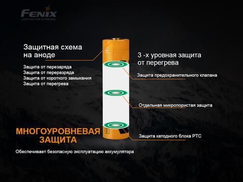 Аккумулятор 21700 Fenix ARB-L21-5000. Вид 3