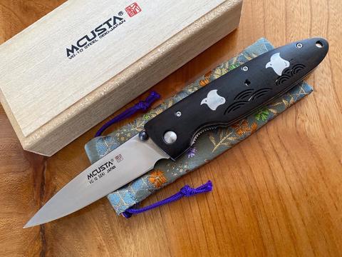 Складной нож Mcusta Тысяча птиц LMC-01306, сталь VG-10, рукоять African Blackwood