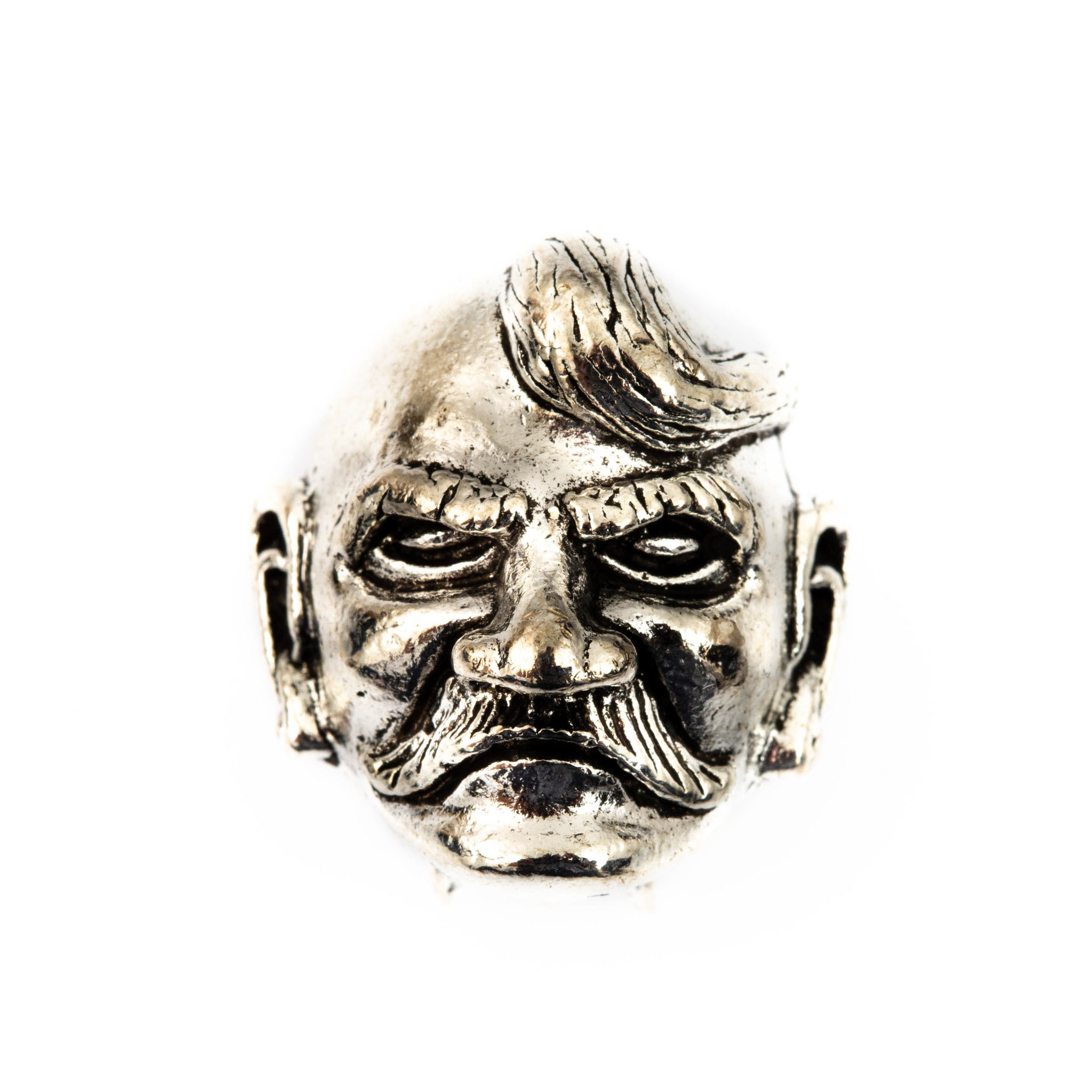 Бусина для темляка Голова Казака, серый от Viking Nordway