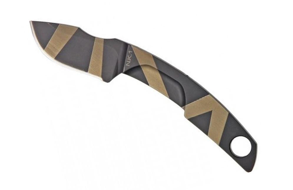 Нож с фиксированным клинком Extrema Ratio N.K. 1 Desert Warfare - Laser Engraving, сталь Bhler N690, цельнометаллический нож с фиксированным клинком n k 1 stonewashed