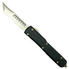 Автоматический выкидной нож Microtech Ultratech Hellhound, сталь CTS-204P, рукоять черный G10, клинок бронза, фото 2
