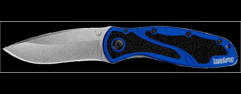 Фото 7 - Складной полуавтоматический нож Kershaw Blur K1670NBSW, сталь Sandvik 14C28N, рукоять алюминий/резина