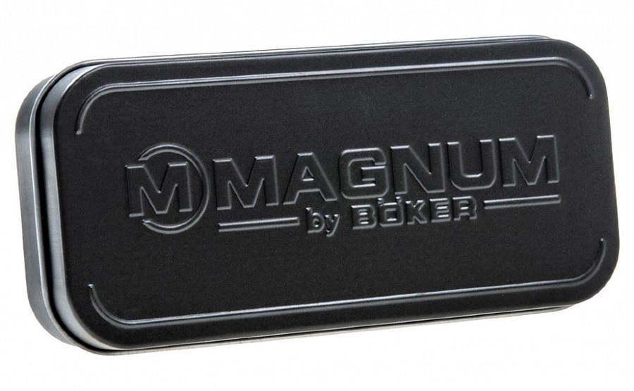 Фото 10 - Нож складной Magnum Pakka Hunter - Boker 01MB700, сталь 440B Satin Plain, рукоять пакка дерево