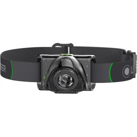 Фонарь светодиодный налобный LED Lenser MH6, черный, 200 лм, аккумулятор. Вид 2