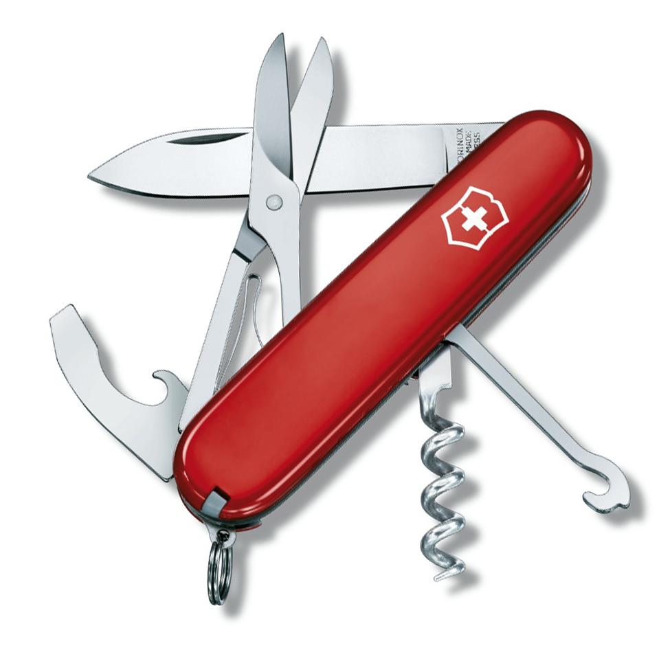 Нож перочинный Victorinox Compact, сталь X55CrMo14, рукоять Cellidor®, красный