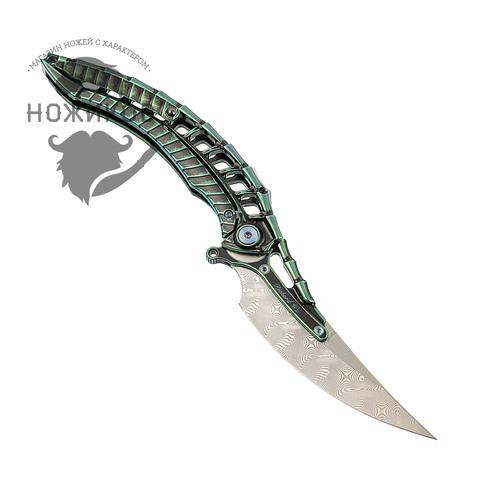 Складной нож Alien Green с тактической ручкой, Limited Edition. Вид 4