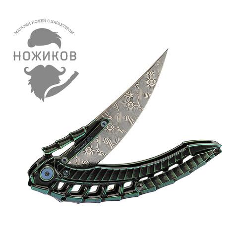 Складной нож Alien Green с тактической ручкой, Limited Edition. Вид 6