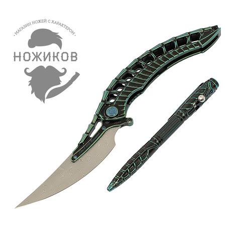 Складной нож Alien Green с тактической ручкой, Limited Edition. Вид 14