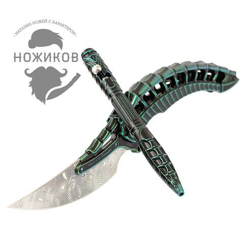 Складной нож Alien Green с тактической ручкой, Limited Edition. Вид 15