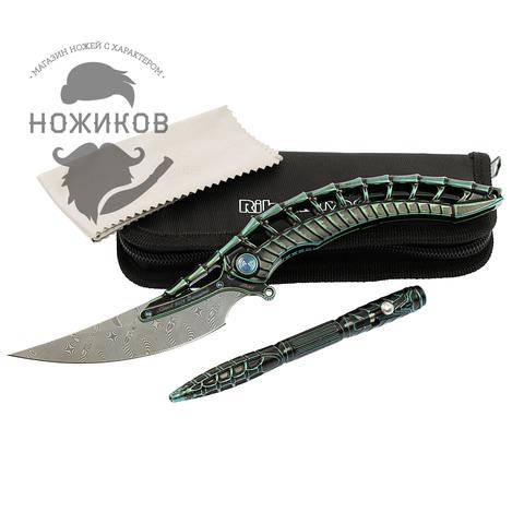 Складной нож Alien Green с тактической ручкой, Limited Edition. Вид 17