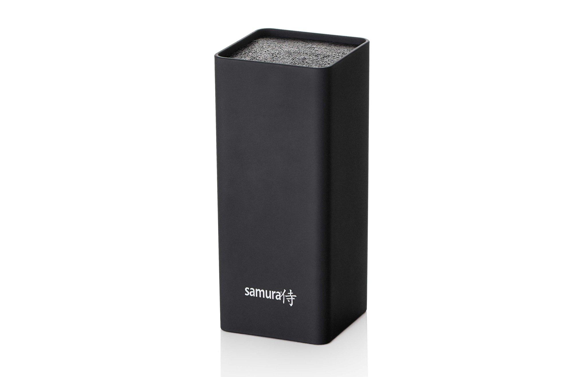 Фото - Подставка универсальная для ножей Samura квадратная, 225мм, пластик (черная) подставка