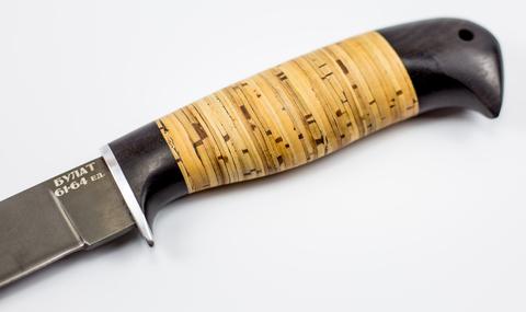 Нож Белка, сталь булат, береста. Вид 3