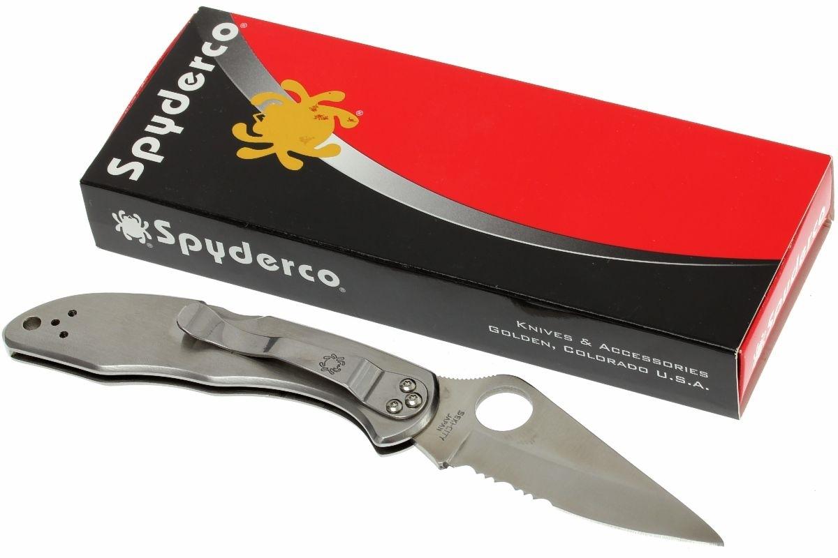 Фото 8 - Складной нож Delica 4 - Spyderco C11PS, сталь VG-10 Satin Combo, рукоять нержавеющая сталь