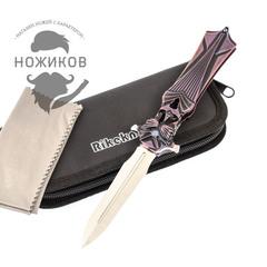Складной нож Amulet Rikeknife, сталь M390, черно-фиолетовый титан, фото 1