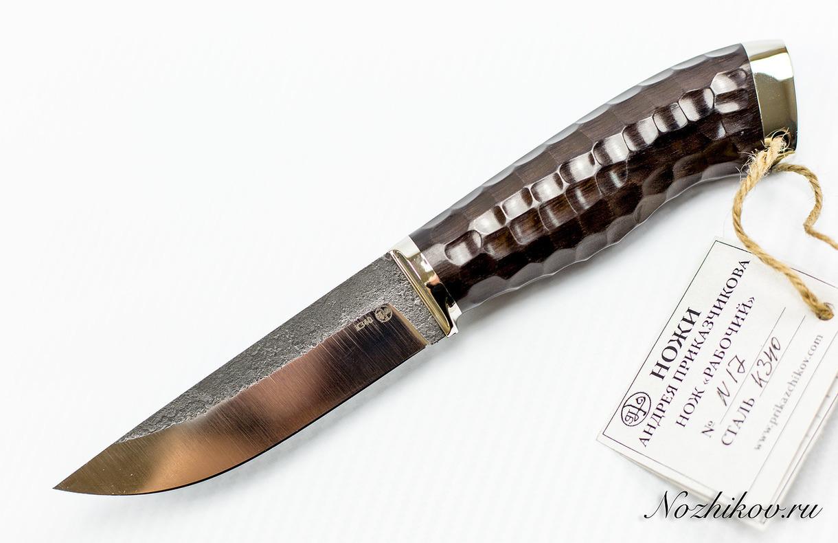 Нож Рабочий №17 из кованой стали Bohler K340 нож разделочный 26 из кованой стали хв5